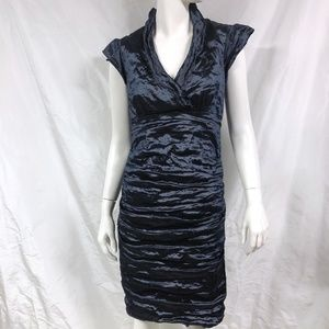 NICOLE MILLER Astor Techno Crinkle Sheath Dress